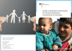 Family reunification Information for Syrian beneficiaries of protection