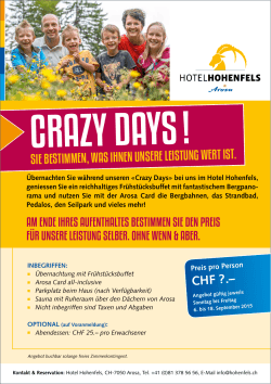 crazy days - Hotel Hohenfels