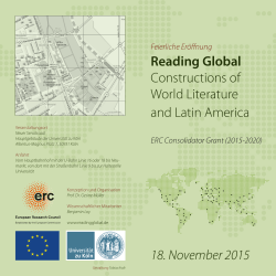 Reading Global Constructions of World Literature and Latin America