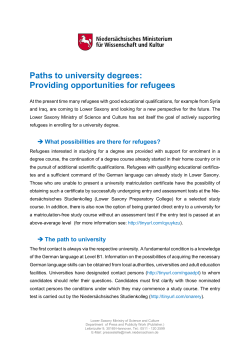 Paths to university degrees: Providing
