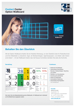 Option Wallboard für Contact Center