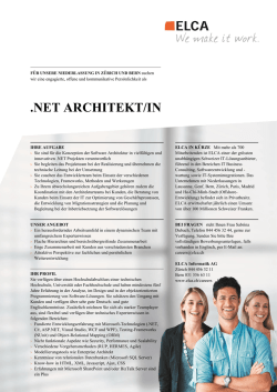 net architekt/in