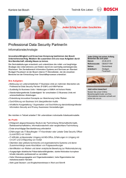 Professional Data Security Partner/in