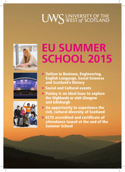EU SUMMER SCHOOL 2015