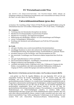 UniversitätsassistentInnen (prae doc)