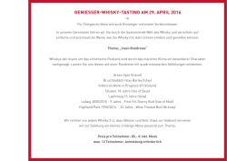 geniesser-whisky-tasting am 29. april 2016