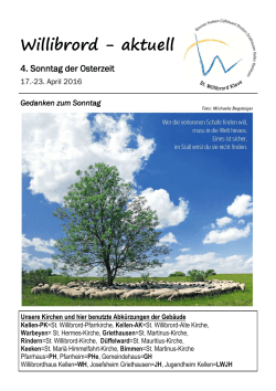 Pfarrmitteilungen 17. – 23. April 2016