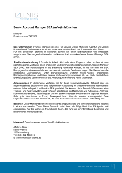 Senior Account Manager SEA (m/w) in München