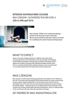 get inspired by max: maxashtanga.com what to expect max czenszak