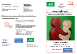 Flyer. - Demenz-Servicezentrum Region Münsterland