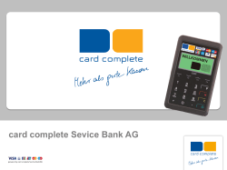 card complete Sevice Bank AG