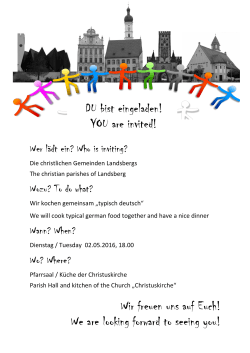Wir freuen uns auf Euch! We are looking forward to seeing you! DU