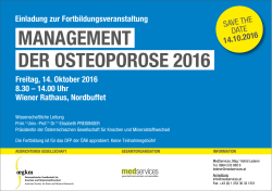 MaNageMeNt deR OsteOpOROse 2016