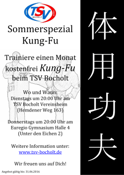 Sommerspezial Kung-Fu
