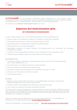 embedded software engineer (m/w)