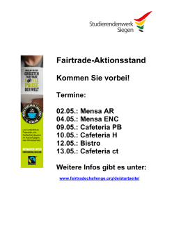 Fairtrade-Aktionsstand - Studentenwerk Siegen