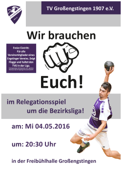 Flyer Relegation - TSV Kleinengstingen 1905 eV