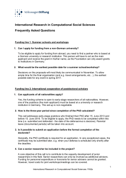 Information zur Antragstellung 107: Frequently Asked Questions