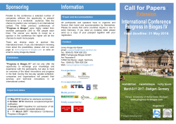 Information Call for Papers Extension International Conference