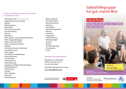 Flyer Selbsthilfetag 2016 - Selbsthilfe