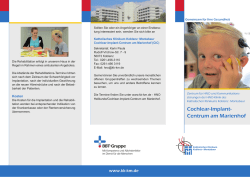 Cochlear-Implant- Centrum am Marienhof