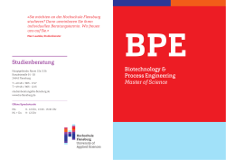 Studiengangsflyer Biotechnology Process Engineering