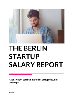 THE BERLIN STARTUP SALARY REPORT