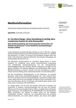 Medieninformation - Medienservice Sachsen