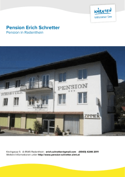 Pension Erich Schretter in Radenthein
