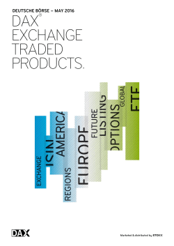 dax exchange traded products.