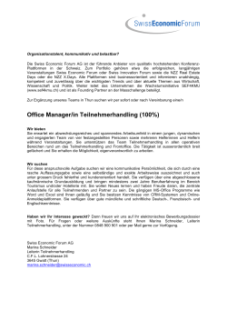Office Manager/in Teilnehmerhandling (100%)