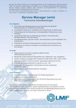 Service Manager, After Sales
