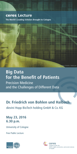 Big Data for the Benefit of Patients