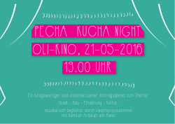 PECHA KUCHA NIGHT OLI-KINO, 21-05