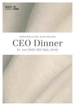 Flyer NZZ CEO Dinner 21. Juni 2016