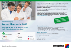 Forum Pharmazie 2016 - bei Mepha Pharma AG