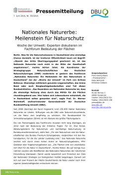 PM WdU Fachforum Nationales Naturerbe
