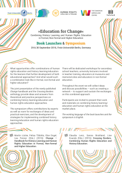 Programme (PDF-Download) - The Change Handbook Project