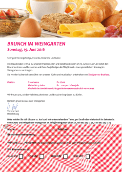 Brunch im Weingarten