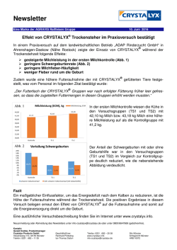 des Newsletters - CRYSTALYX® Products GmbH