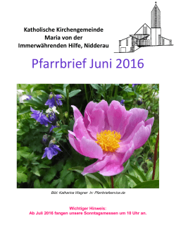 Pfarrbrief Juni 2016 - St. Maria Windecken