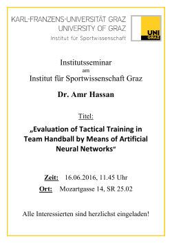 Evaluation of Tactical Training in Team Handball by Mean