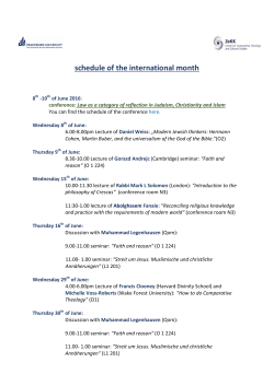 schedule of the international month