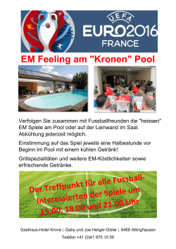 "EM Feeling am ""Kronen"" Pool"