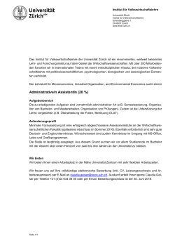 Administrative/n AssistentIn (20 %)