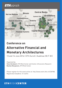 Conference on Alternative Financial and Monetary Architectures