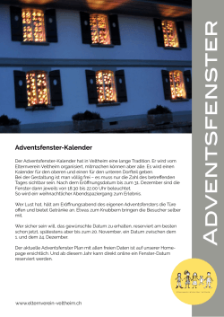 adventsfenster - Elternverein Veltheim