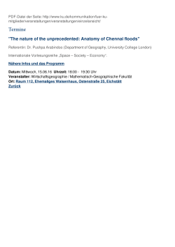 """The nature of the unprecedented: Anatomy of Chennai floods"""
