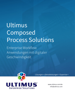 Ultimus Composed Process Solutions