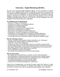 Internship – Digital Marketing (60-80%)